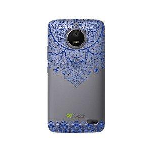 Capa Moto E4 - Mandala Azul