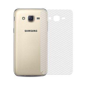 Película de Fibra de Carbono Traseira Transparente para - Samsung Galaxy J7 - 99capas