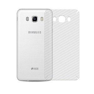 Película de Fibra de Carbono Traseira Transparente para - Samsung Galaxy J7 Metal - 99capas
