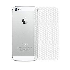Película Traseira de Fibra de Carbono Transparente para iPhone 5/5S/SE - 99capas