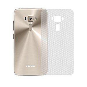 """Película Traseira de Fibra de Carbono Transparente para Asus Zenfone 3 Deluxe 5.7"""" - 99capas"""