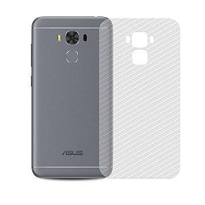 Película Traseira de Fibra de Carbono Transparente para Asus Zenfone 3 Max 5.5 - 99capas