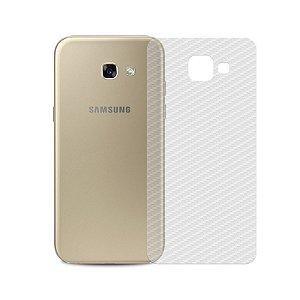 Película Traseira de Fibra de Carbono Transparente para Samsung Galaxy A5 2017 - 99capas