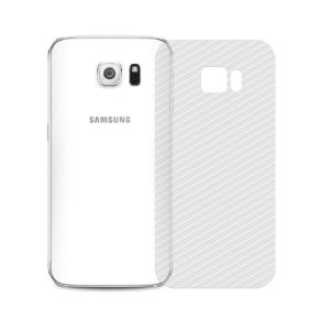Película Traseira de Fibra de Carbono Transparente para Samsung Galaxy S6 - 99capas