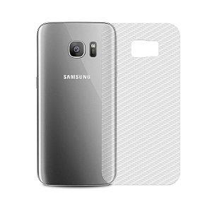 Película Traseira de Fibra de Carbono Transparente para Samsung Galaxy S7 Edge - 99capas