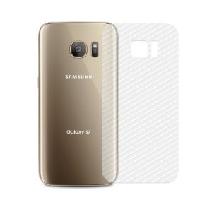 Película Traseira de Fibra de Carbono Transparente para Samsung Galaxy S7 - 99capas