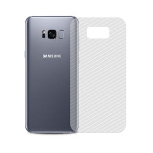 Película Traseira de Fibra de Carbono Transparente para Samsung Galaxy S8 Plus - 99capas