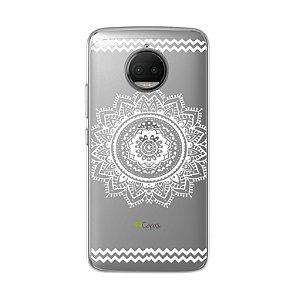 Capa para Motorola Moto G5S Plus - Mandala Branca