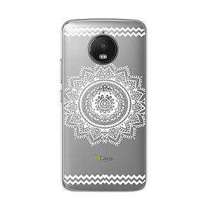Capa para Motorola Moto G5S - Mandala Branca