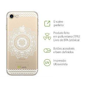 Capa para Iphone 8 Plus - Mandala Branca