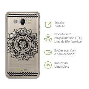 Capa para Galaxy J7 Neo - Mandala Preta