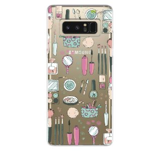 Capa para Note 8 - Make Up Galaxy