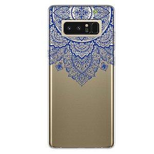 Capa para Samsung Note 8 - Mandala Azul