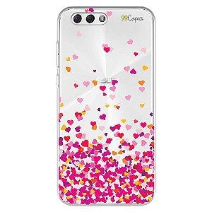 Capa para Zenfone 4 - 5.5 Polegadas - Corações Rosa