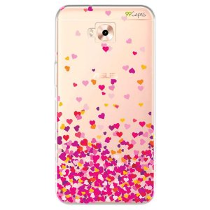 Capa para Zenfone 4 Selfie Pro - Corações Rosa