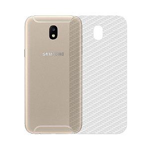 Película de Fibra de Carbono Traseira Transparente para - Samsung Galaxy J7 PRO - 99capas