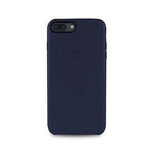 Capa Couro Azul para Apple iPhone 8 Plus
