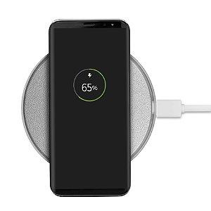 Carregador Wireless Sem Fio - Prata
