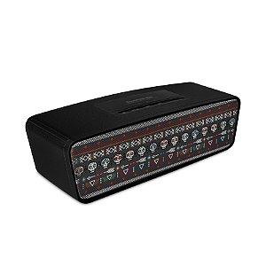 Caixa de Som Bluetooth Preta com estampa Tribal - 99Capas