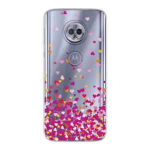 Capa para Moto G6 Play - Corações Rosa