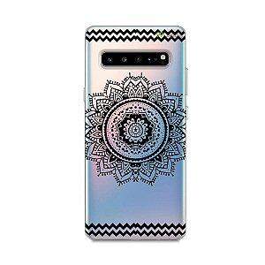 Capa para Galaxy S10 - Mandala Preta