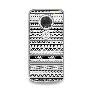 Capa para Moto G7 Plus - Maori Branca