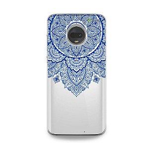 Capa para Moto G7 - Mandala Azul