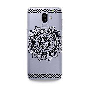 Capa para Galaxy J8 - Mandala Preta