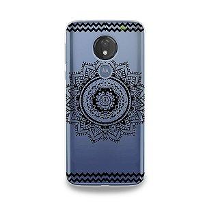 Capa para Moto G7 Power - Mandala Preta