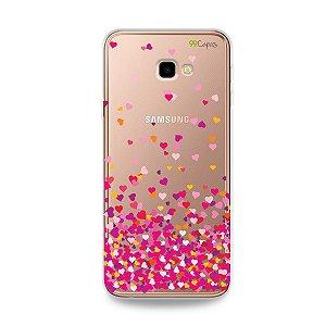 Capa para Galaxy J4 Plus - Corações Rosa