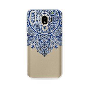 Capa para Galaxy J4 2018 - Mandala Azul