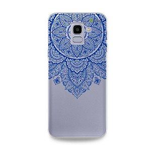 Capa para Galaxy J6 - Mandala Azul