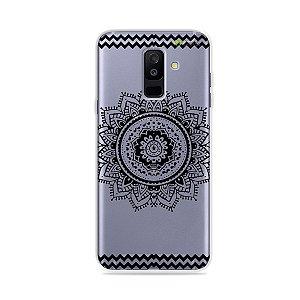 Capa para Galaxy A6 Plus - Mandala Preta