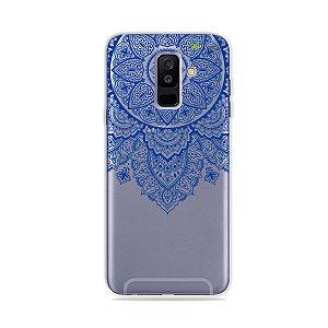Capa para Galaxy A6 Plus - Mandala Azul