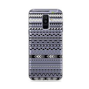 Capa para Galaxy A6 Plus - Maori Branca