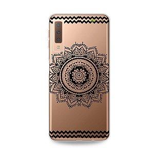 Capa para Galaxy A7 2018 - Mandala Preta