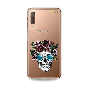Capa para Galaxy A7 2018 - Caveira
