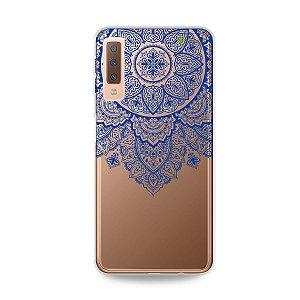 Capa para Galaxy A7 2018 - Mandala Azul
