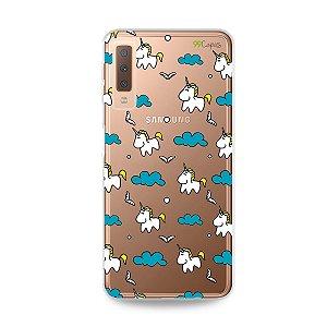 Capa para Galaxy A7 2018 - Unicórnio