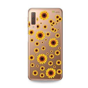 Capa para Galaxy A7 2018 - Girassóis