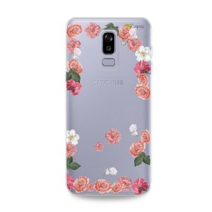 Capa para Galaxy J8 - Pink Roses