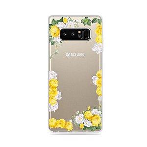 Capa para Galaxy Note 8 - Yellow Roses