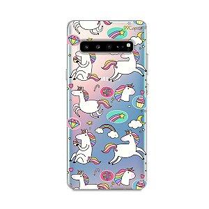 Capa para Samsung Galaxy S10 - Unicórnios Felizes