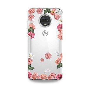 Capa para Moto G7 - Pink Roses