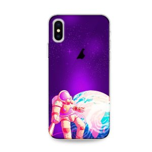 Capa para iPhone X/XS - Selfie Galáctica