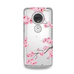 Capa para Moto G7 Plus - Cerejeiras