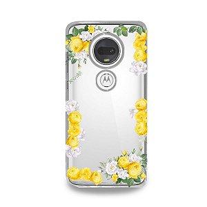 Capa para Moto G7 Plus - Yellow Roses