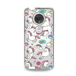 Capa para Moto G7 Plus - Unicórnios Felizes