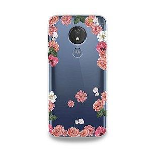 Capa para Moto G7 Power - Pink Roses