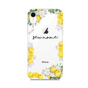 Capa Yellow Roses com nome personalizado - 99Capas